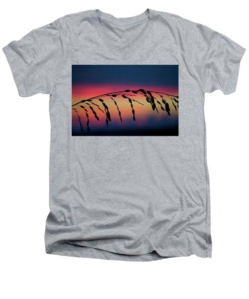Men's V-Neck T-Shirt featuring the photograph Sanibel Sea Oats by Melanie Moraga