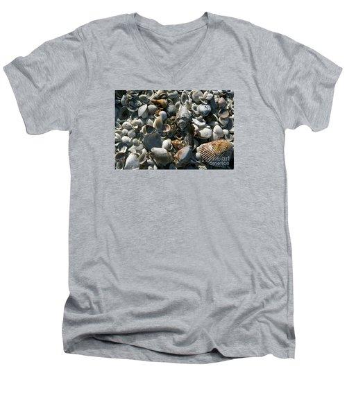 Sanibel Shells Men's V-Neck T-Shirt by Sandy Molinaro