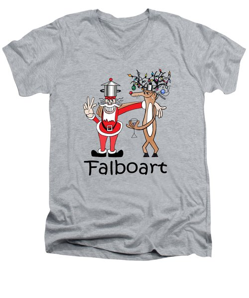Santa Men's V-Neck T-Shirt