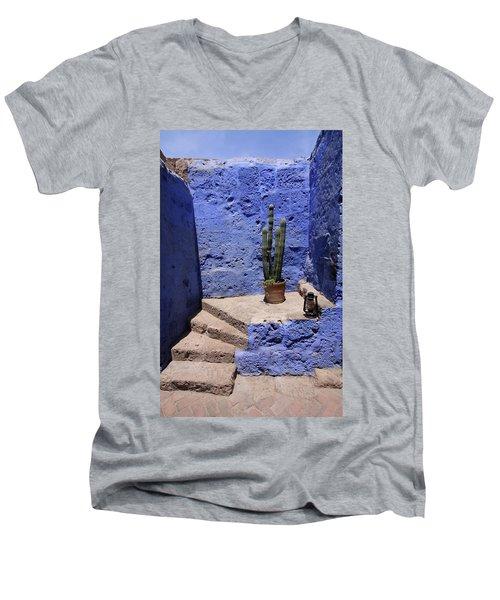 Men's V-Neck T-Shirt featuring the photograph Santa Catalina Monastery by Aidan Moran