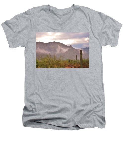 Santa Catalina Mountains II Men's V-Neck T-Shirt