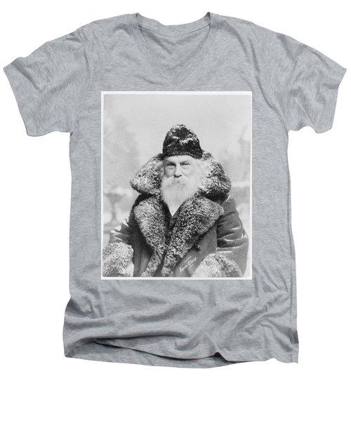 Santa Claus Men's V-Neck T-Shirt by David Bridburg