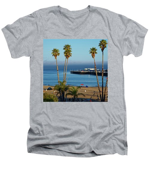 Santa Cruz Beach Men's V-Neck T-Shirt