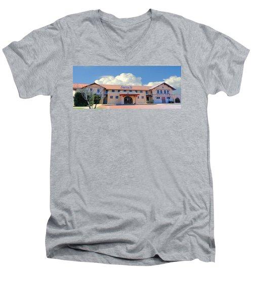 Santa Fe Depot In Amarillo Texas Men's V-Neck T-Shirt by Janette Boyd