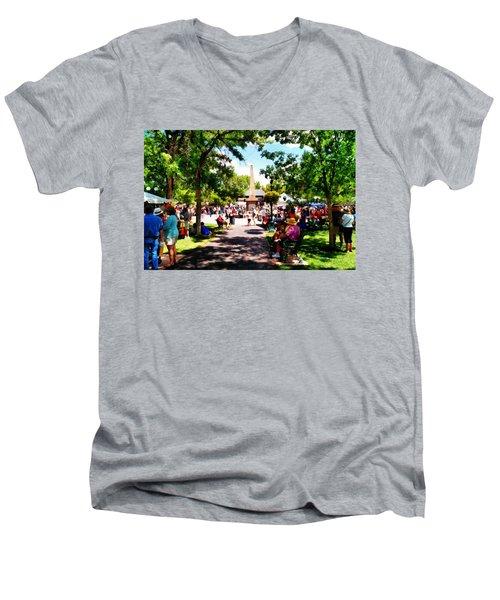 Santa Fe New Mexico Men's V-Neck T-Shirt by Joseph Frank Baraba