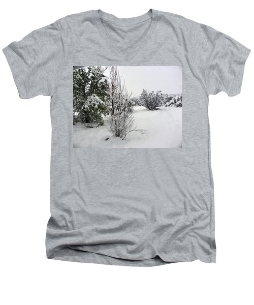 Santa Fe Snowstorm 2017 Men's V-Neck T-Shirt