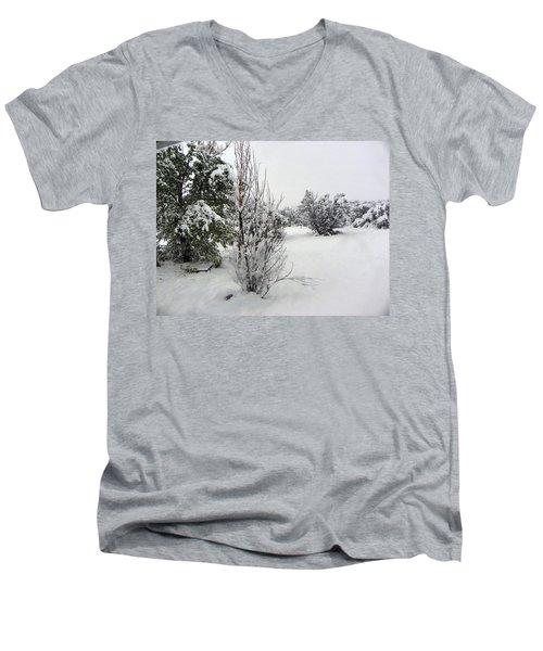 Santa Fe Snowstorm 2017 Men's V-Neck T-Shirt