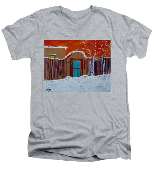 Santa Fe Snowstorm Men's V-Neck T-Shirt