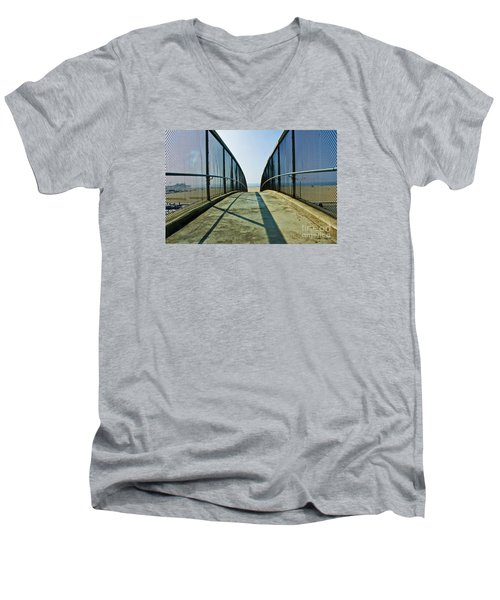 Santa Monica Beach California Men's V-Neck T-Shirt