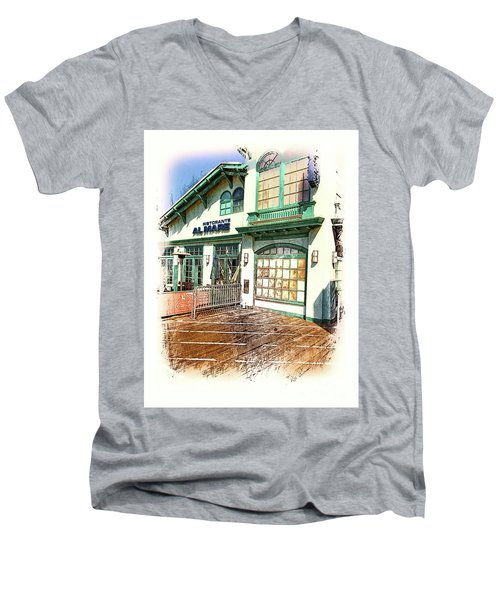 Santa Monica Pier Ver 2 Men's V-Neck T-Shirt
