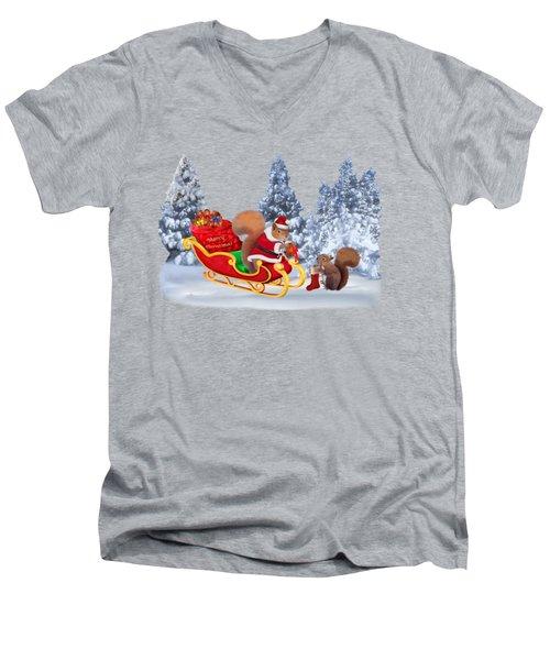 Santa's Little Helper Men's V-Neck T-Shirt by Glenn Holbrook