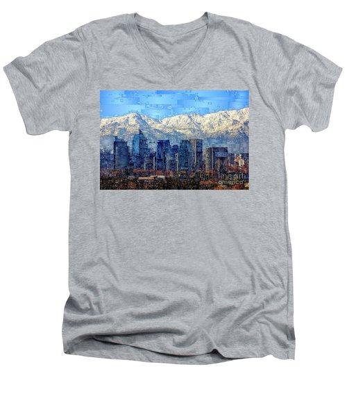 Santiago De Chile, Chile Men's V-Neck T-Shirt
