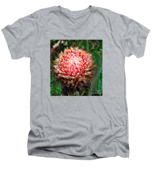 Sao Tome Blosssom Men's V-Neck T-Shirt