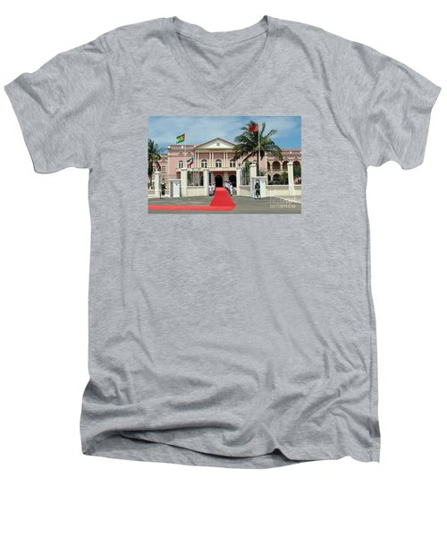 Sao Tome City Hall Men's V-Neck T-Shirt