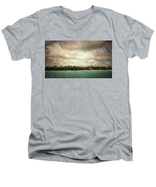 Saona Island , Santo Domingo Men's V-Neck T-Shirt