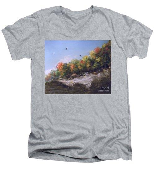 Soaring Over The North Rim, Autumn Men's V-Neck T-Shirt