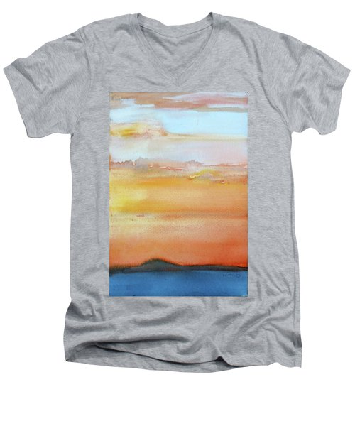 Sapphire Sunrise Autumn Men's V-Neck T-Shirt
