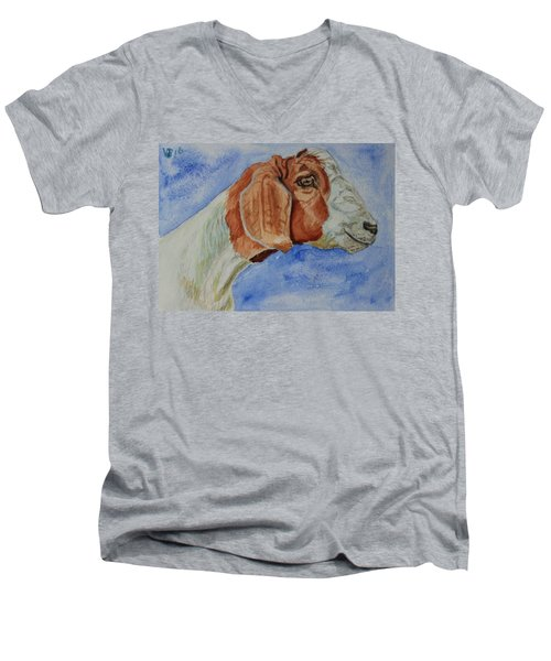 Sara's Goat Men's V-Neck T-Shirt