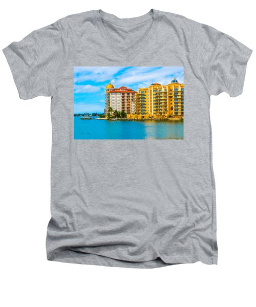 Sarasota Architecture Men's V-Neck T-Shirt