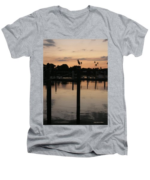Sarasota Sunset1 Men's V-Neck T-Shirt