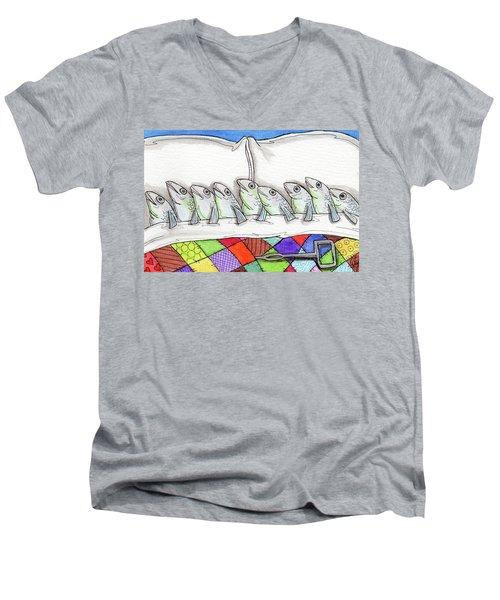 Sardines Men's V-Neck T-Shirt