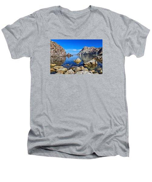 Sardinia - Calafico Bay  Men's V-Neck T-Shirt