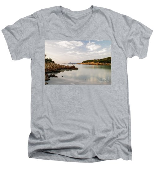 Sardinian Coast I Men's V-Neck T-Shirt by Yuri Santin