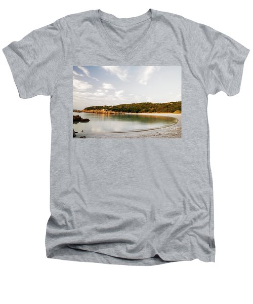 Sardinian View Men's V-Neck T-Shirt by Yuri Santin