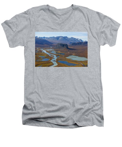 Sarek Nationalpark Men's V-Neck T-Shirt