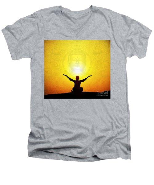 Sat Chit Ananda Men's V-Neck T-Shirt