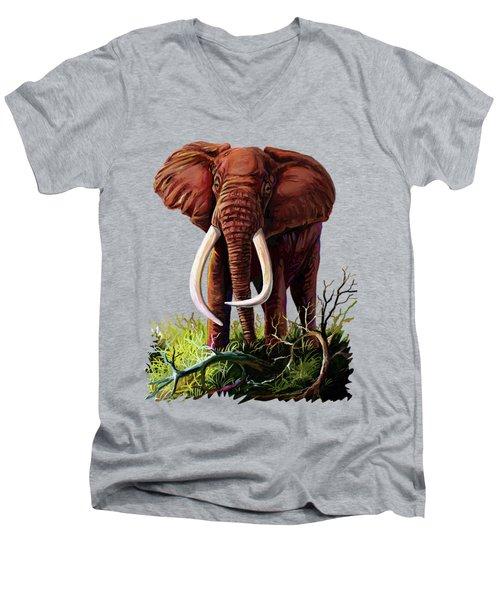 Satao II - The Elephant Men's V-Neck T-Shirt