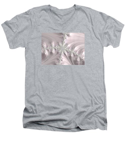 Satin Men's V-Neck T-Shirt by Elaine Teague