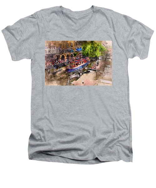 Saturday Afternoon At Camden Lock Men's V-Neck T-Shirt by Nicky Jameson