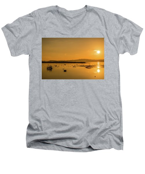 Saturday Morning Along The Estuary  Men's V-Neck T-Shirt by Martina Fagan