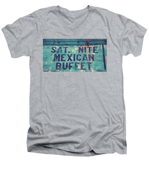 Saturday Nite Mexican Buffet Men's V-Neck T-Shirt