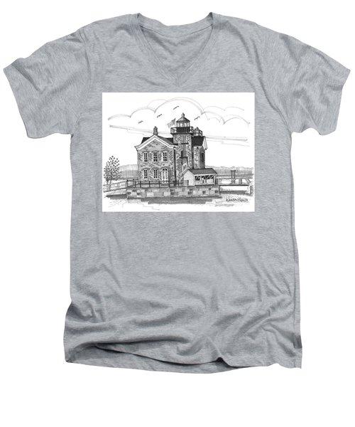 Saugerties Lighthouse Men's V-Neck T-Shirt