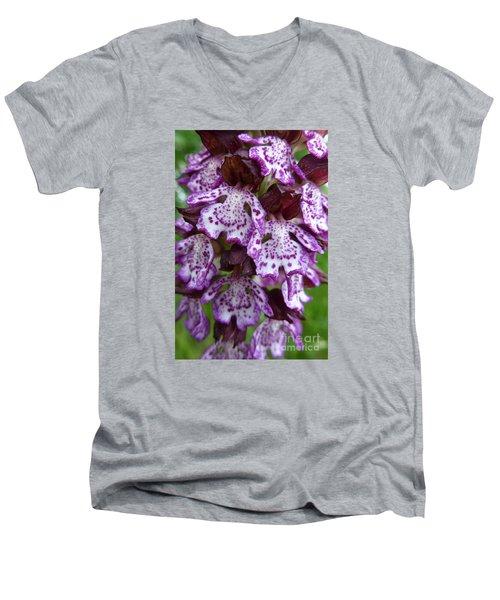 Savage Orchid 2 Men's V-Neck T-Shirt by Jean Bernard Roussilhe
