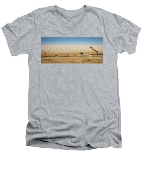 Savanna Life Men's V-Neck T-Shirt by Inge Johnsson