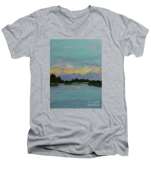 Savannah Sunrise Men's V-Neck T-Shirt by Gail Kent