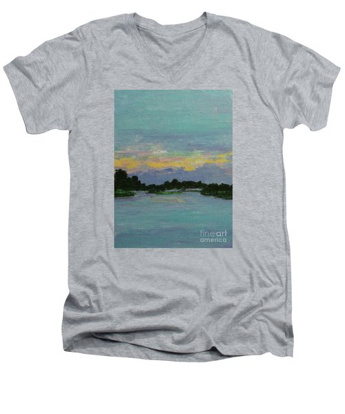 Savannah Sunrise Men's V-Neck T-Shirt