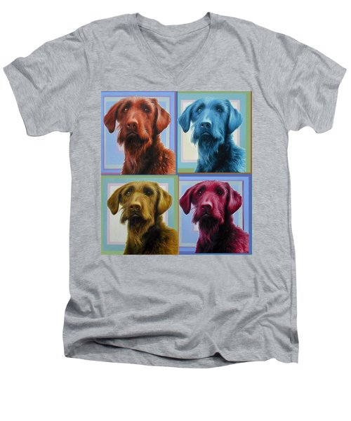 Savannah The Labradoodle Men's V-Neck T-Shirt