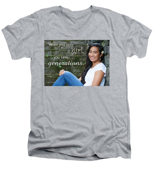 Save A Girl Men's V-Neck T-Shirt