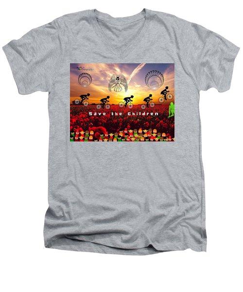 Save The Children Men's V-Neck T-Shirt