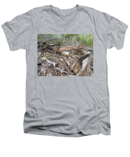 Men's V-Neck T-Shirt featuring the photograph Save The Last Bite For Me by Marie Neder