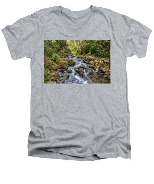 Savegre River - Costa Rica Men's V-Neck T-Shirt