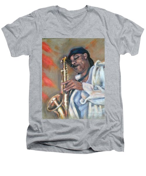 Sax And Linen Men's V-Neck T-Shirt