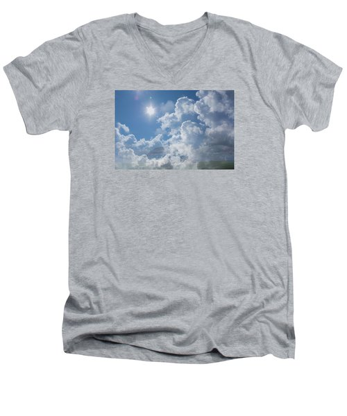 Sayers Homestead In The Clouds Men's V-Neck T-Shirt by Ellery Russell