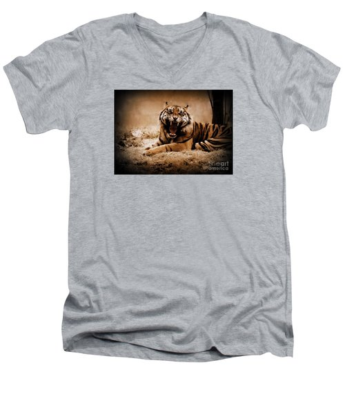 Men's V-Neck T-Shirt featuring the photograph Saying Hello by Lisa L Silva