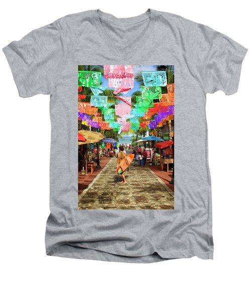 Sayu Flags 2 Men's V-Neck T-Shirt