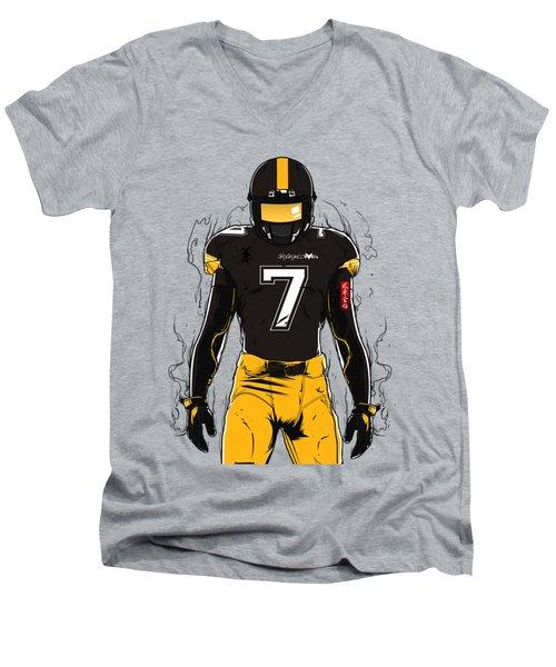 Sb L Pittsburgh Men's V-Neck T-Shirt by Akyanyme